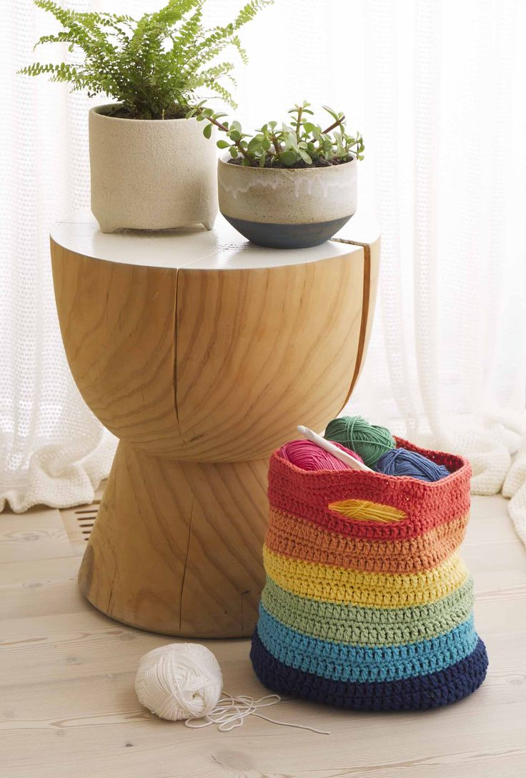 Modern Crochet by Patons, basket