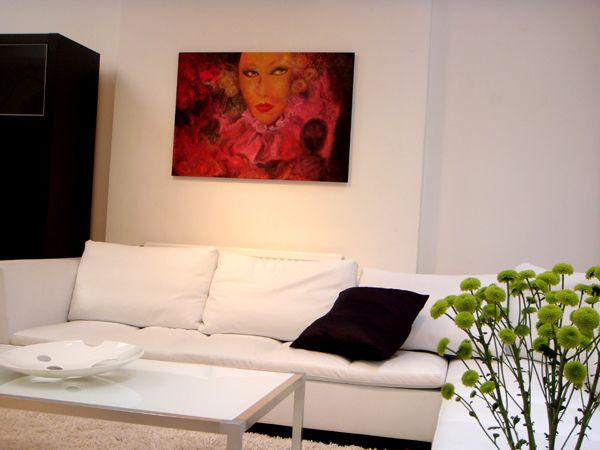 "Tinterova oil painting ""A taste of Venice"" at @Ligne Roset Sweden"