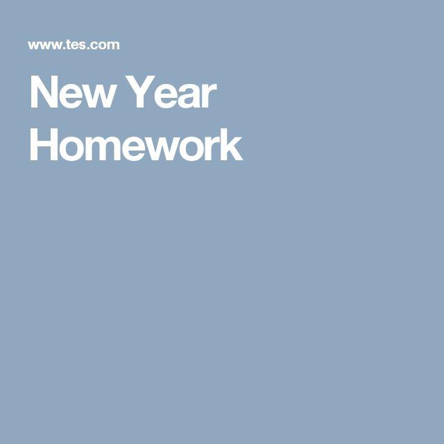 New Year Homework