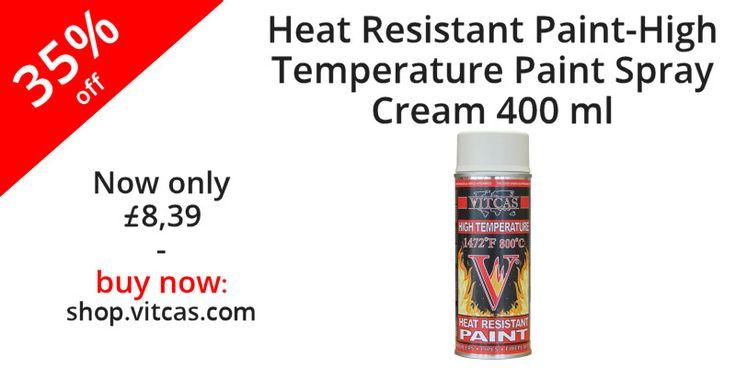 Heat Resistant Paint-High Temperature Paint Spray-Cream now 35% off. Buy now: http://shop.vitcas.com/vitcas-heat-resistant-paint-high-temperature-paint-spray-cream-705-p.asp