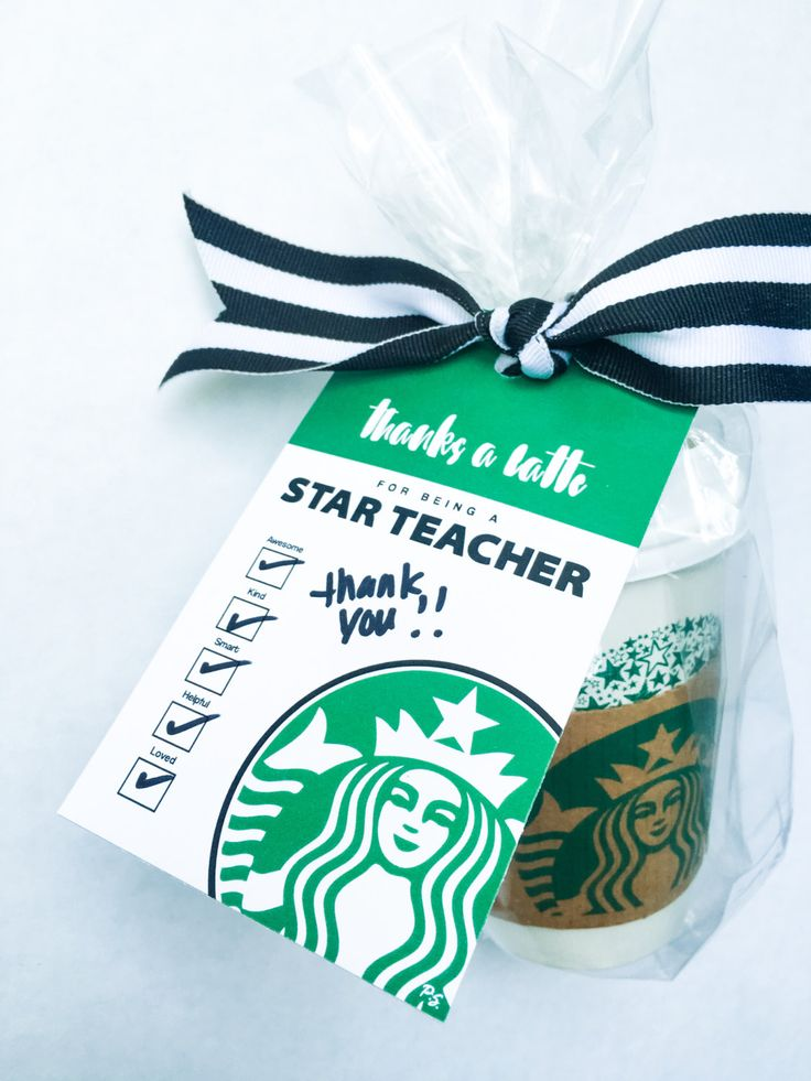 Teacher Appreciation Collection. Thanks a Latte Tag. DIY Printable Design. Pinkadot Shop by PinkadotShop on Etsy