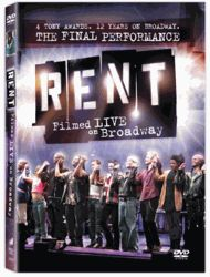 Rent Filmed Live on Broadway DVD #christmaswishlist