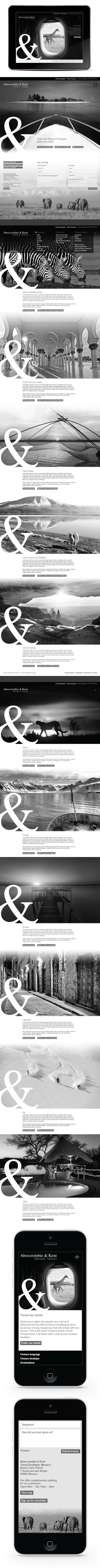 Abercrombie & Kent luxury travel website by Julie Nicholls, via Behance