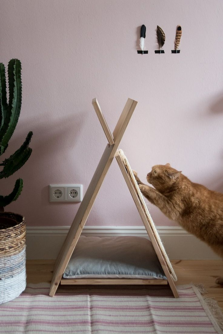 25 best ideas about cat teepee on pinterest cat tent for Dog tipi diy