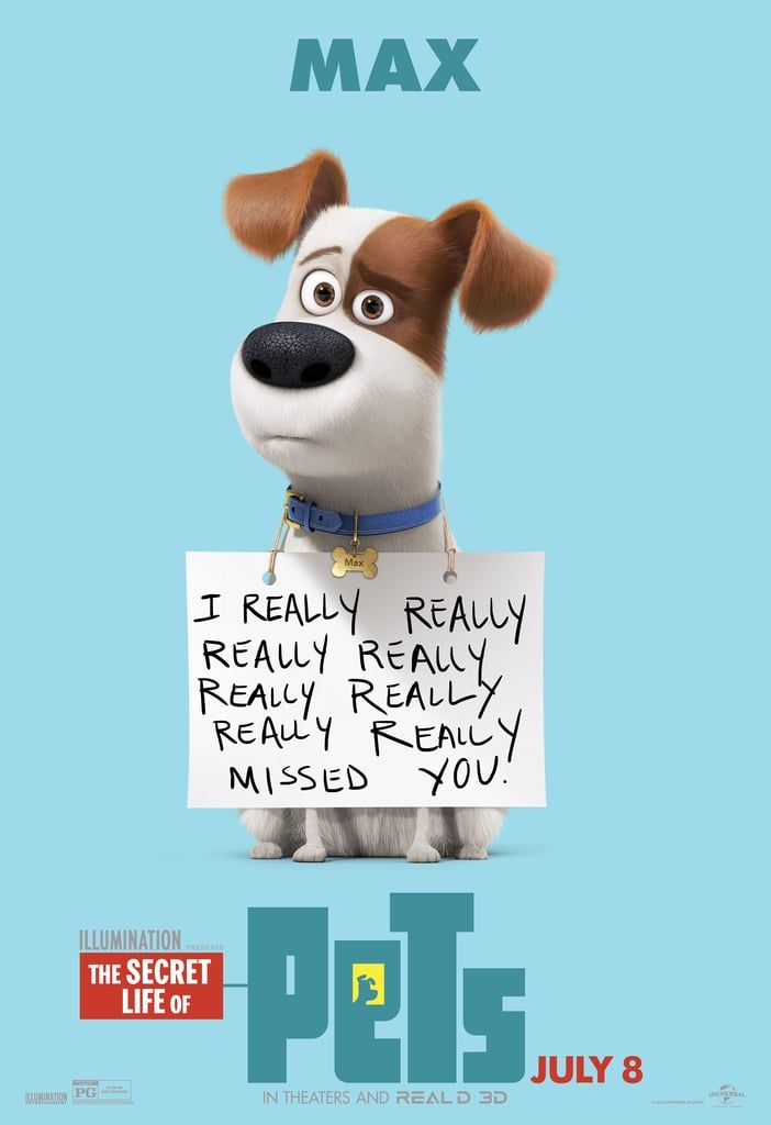 I really really do miss you The Secret Life Of Pets