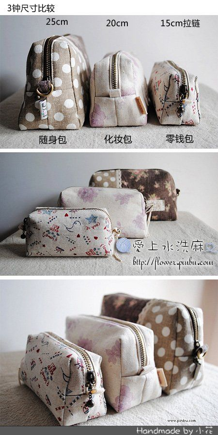 Small cosmetics bag - with pattern