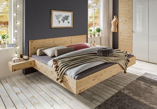 schwebebett cervino aus massivem zirbenholz. Black Bedroom Furniture Sets. Home Design Ideas