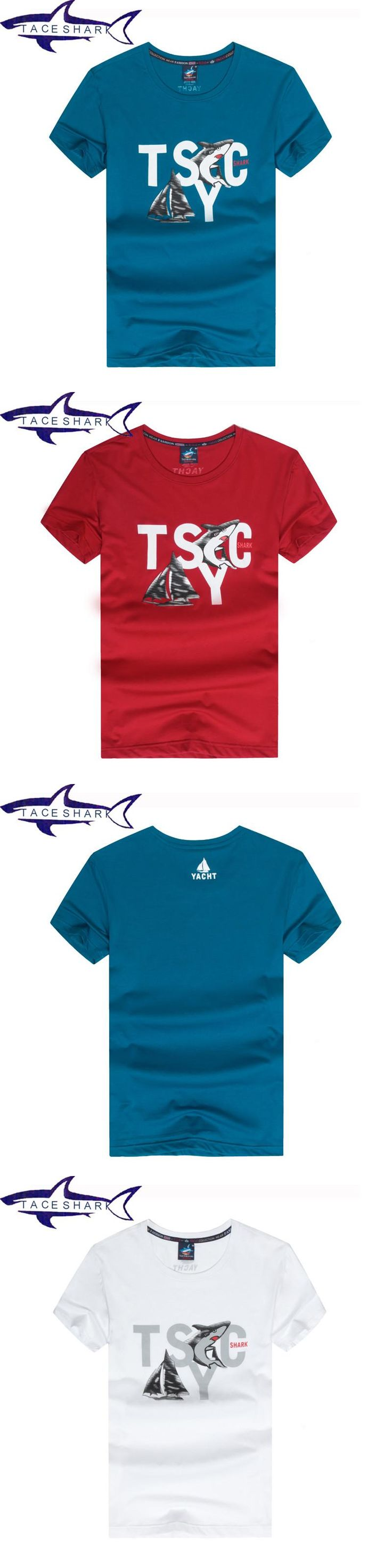 Mens t shirt fashion 2017 brand clothing Tace & Shark yachting t shirts camiseta masculina chemise homme shark t shirt men