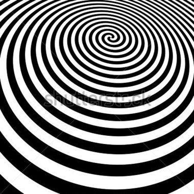 Spiraal perspectief zwart-wit vector - optische kunst. Hypnose spiraal ontwerppatroon. Concept voor hypnose, onbewuste, chaos, extra zintuiglijke waarneming, psychic, stress, spanning, optische illusie.