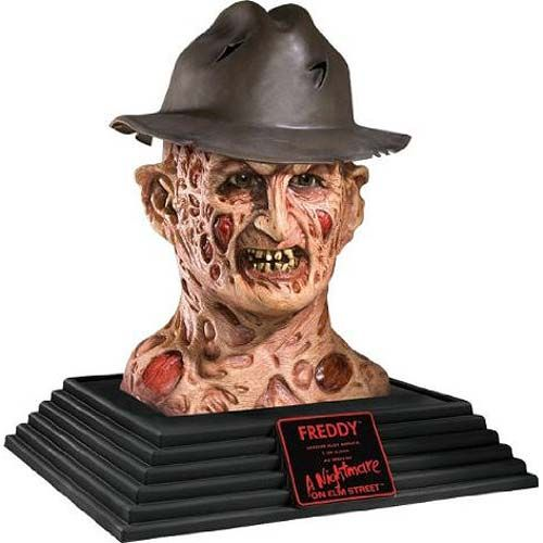 nightmare on elm street freddy krueger 18 inch bust - Freddy Krueger Halloween Decorations