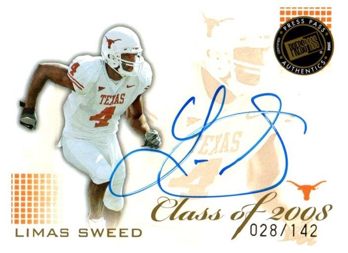 2008 Press Pass SE Limas Sweed Pittsburgh Steelers Auto SP #D/142