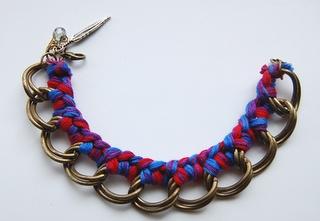 DIY: Braided Chain Bracelet