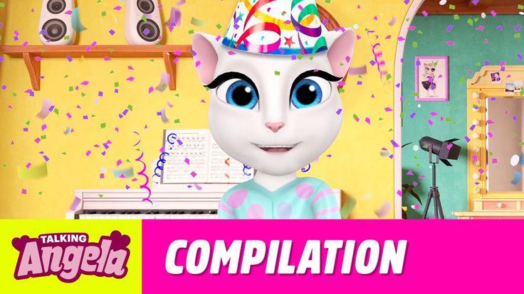 Talking Angela - My Party Video Compilation xo, Talking Angela  #party #YouTube #video #TalkingAngela #MyTalkingAngela #LittleKitties