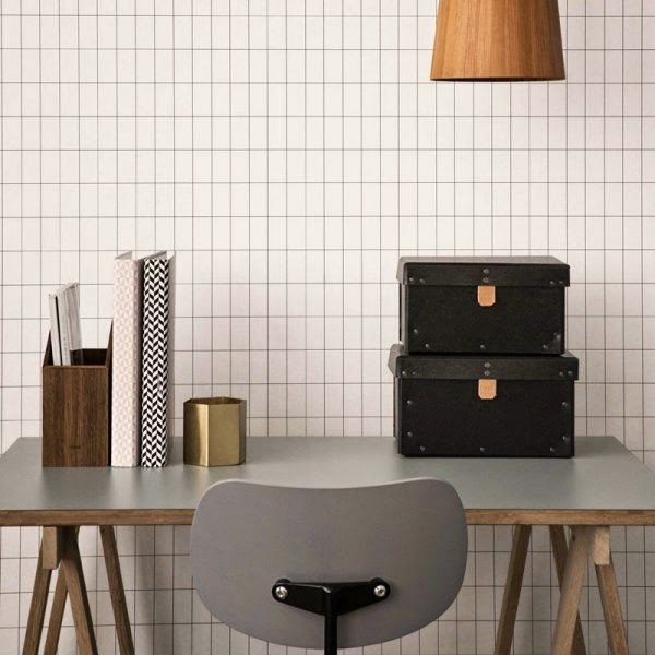 Tuesday Tips - Trend Alert Grids grid wallpaper by Ferm Living