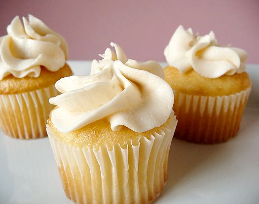 A recipe for vanilla cupcakes and vanilla buttercream frosting that are the perfect pair for classic cupcakes.