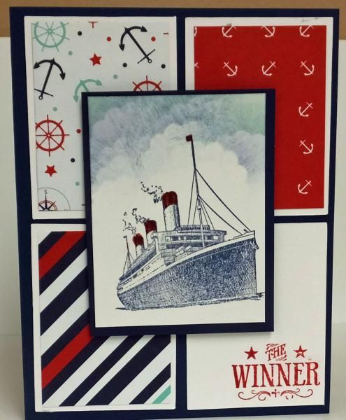The Ship is Sailing by lindathecreator - Cards and Paper Crafts at Splitcoaststampers