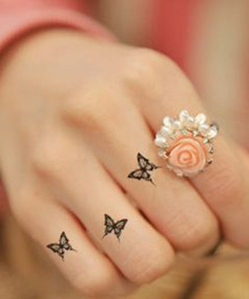 Incredibly Hot Little Butterfly Tattoos On Finger For Women Tattoo