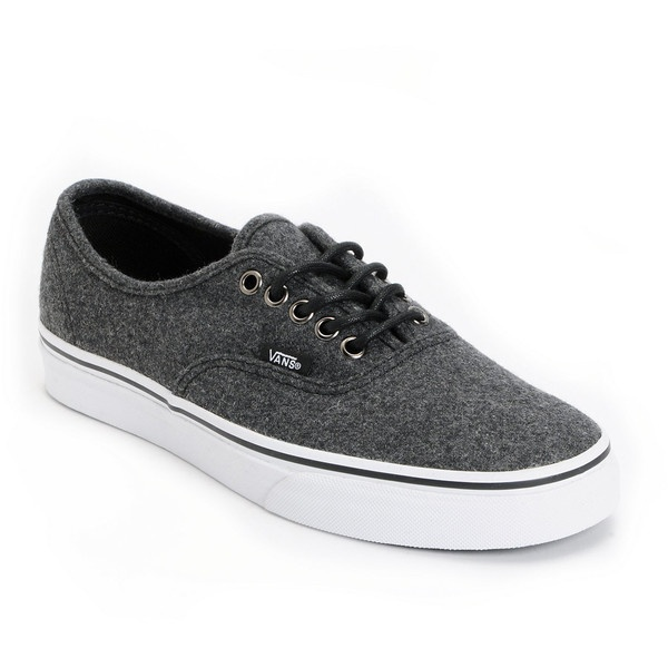 63aa954742 Vans Authentic Dark Grey Wool Shoe ( 55) ❤ liked on Polyvore ...