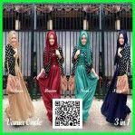 Baju Remaja Modern Gamis Vania Black 3in1 MTFA30