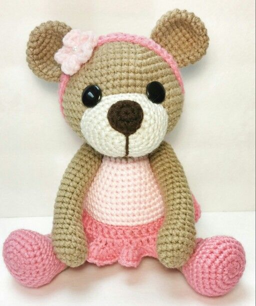 Amigurumi pretty pink Ballerina Bear