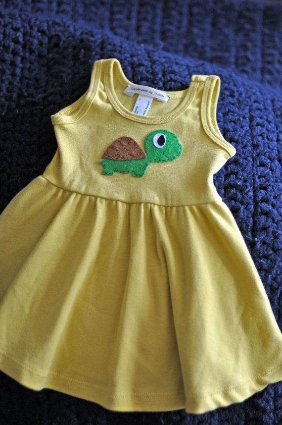 Turtle Baby Girl Dress - American Apparel 100% Organic ...