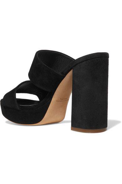 Mansur Gavriel - Suede Platform Mules - Black - IT