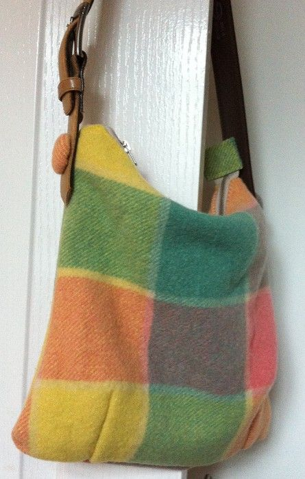 Upcycled Wool Blanket Tote Bag - by Keepsakes on madeit $50.00