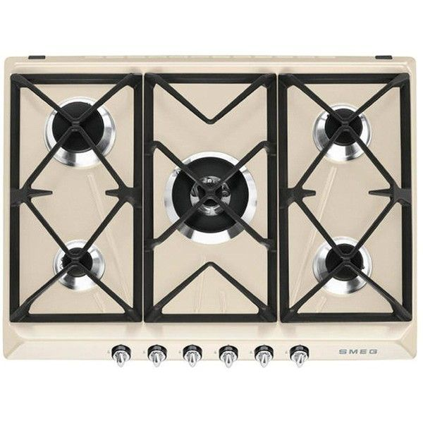Smeg Sr975Pgh 70Cm Built-In 5-Burner Gas Hob (6 635 ZAR) ❤ liked on Polyvore featuring home, kitchen & dining, small appliances, cast iron grill, cast iron electric grill, electric grill, smeg cookers and smeg