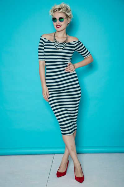 My look: inspiration pin-up! | Fashion is Everywhere - Street style, pinup, stripes, dress