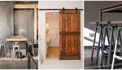 Barn Doors e una casa in stile industriale !