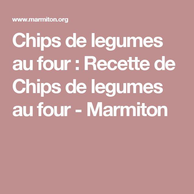 Chips de legumes au four : Recette de Chips de legumes au four - Marmiton