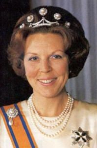 Pearl Button Tiara worn by HM Queen Beatrix of the Netherlands