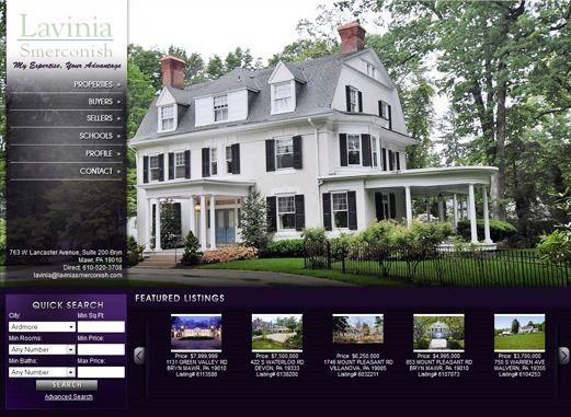 Website Real Estate Desain Terbaik - Lavinia Smerconish - Philadelphia, PA