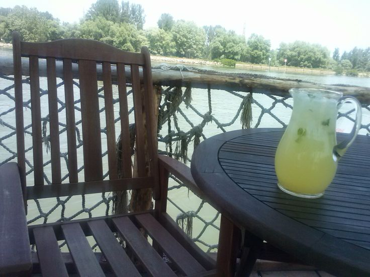 Cold lemonade for hot summer days at Pensiunea Karma from Crisan village, Danube Delta