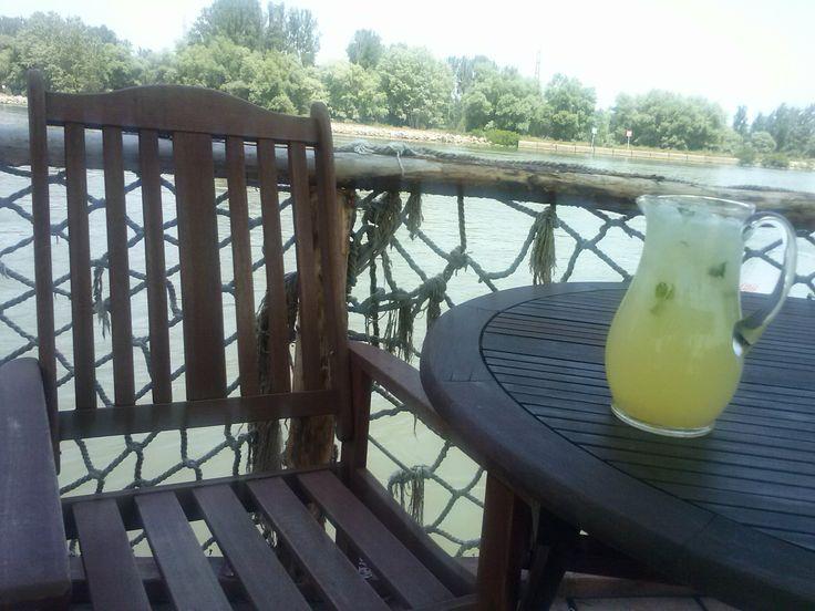 Cold lemonade for hot summer days at Pensiunea Karma from Crisan village, Danube Delta