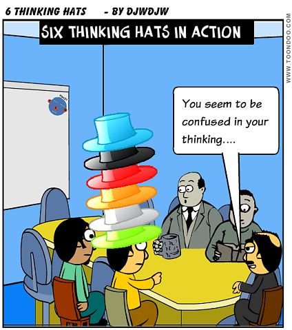 Difficult meetings? Try Six thinking hats ~ Be a Better Sheepdog