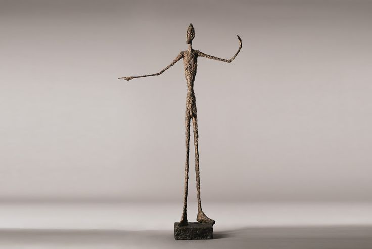 giacometti 39 s iconic life size sculpture l 39 homme au doigt pointing man sculptures pinterest. Black Bedroom Furniture Sets. Home Design Ideas