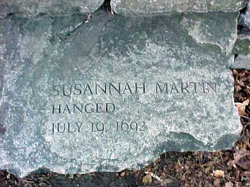 Susannah (North) Martin (baptized September 30, 1621 – July 19, 1692) was a woman executed for witchcraft during the Salem witch trials.