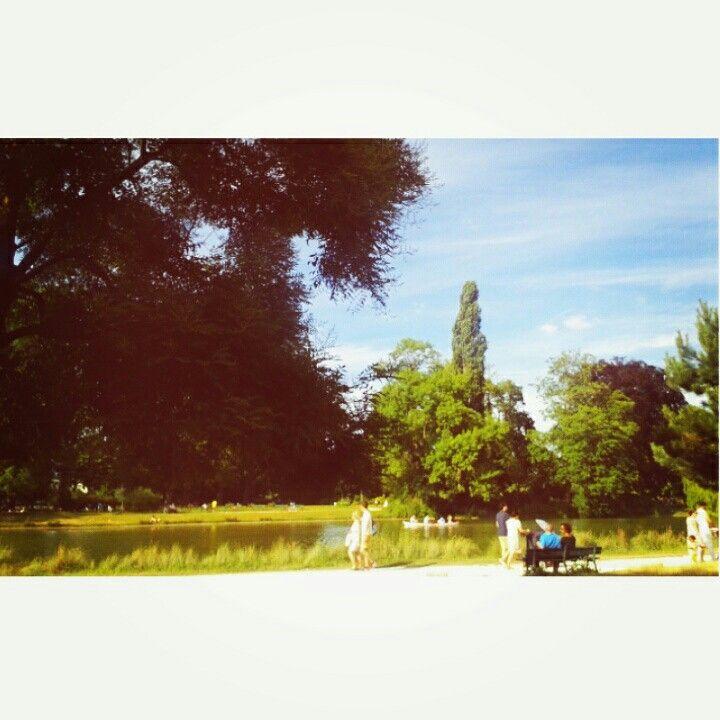 How Big How Blue How Beautiful.  #Paris #BoisDeVincennes #Green #ParisIsGreen #Summertime #landscape #bluesky