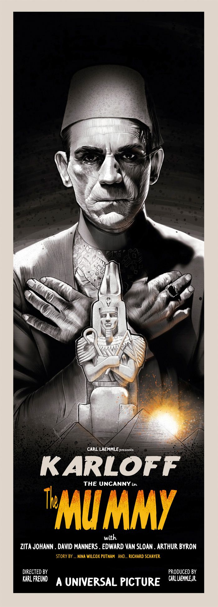 Alternative movie poster for The Mummy by MO CARO