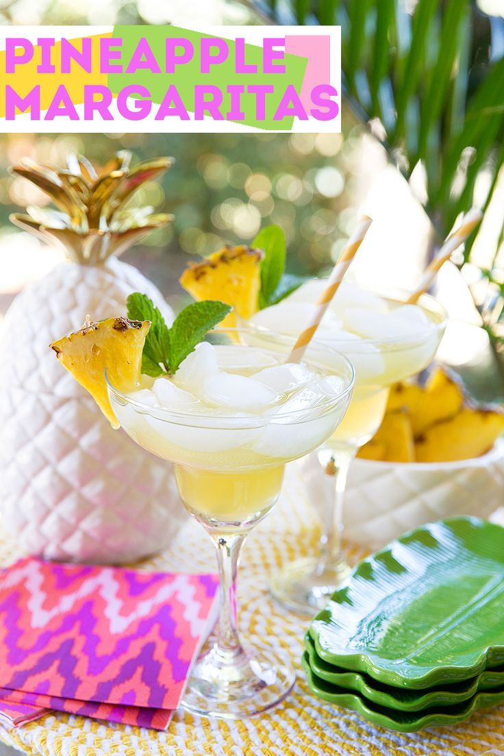 Pineapple Margarita! Perfect twist on a classic for Cinco de Mayo!