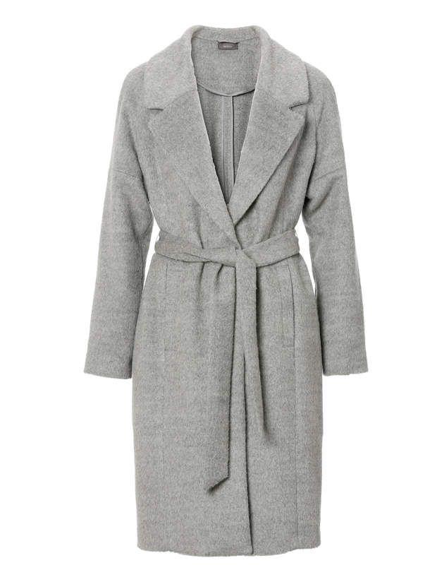 Le manteau ceinturéEn laine et coton, C
