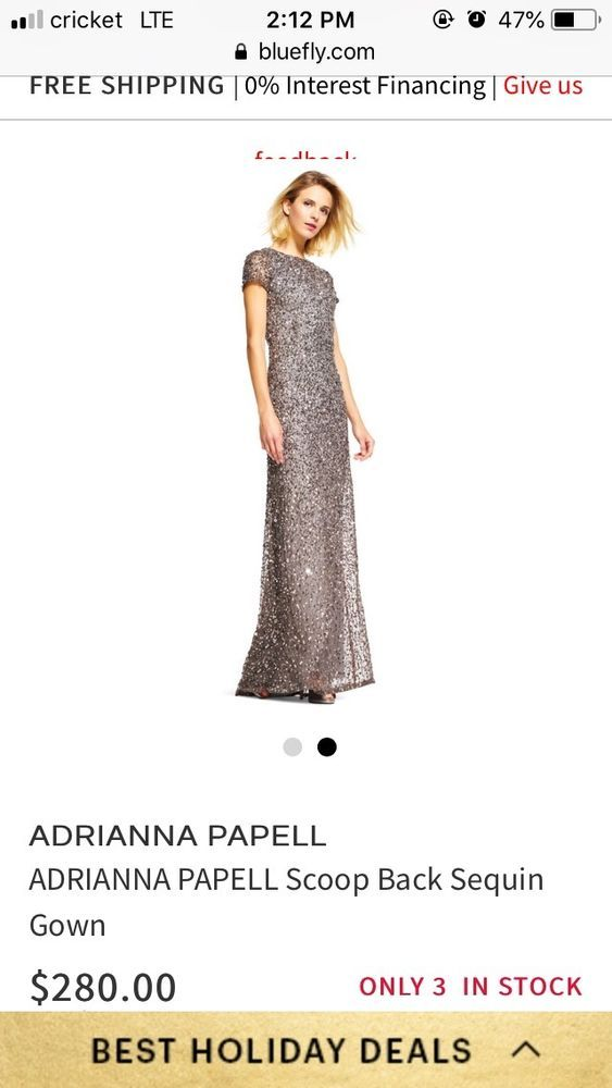 039119c73a6 Adrianna Papell Silver Sequin Maxi Dress  fashion  clothing  shoes   accessories  womensclothing  dresses (ebay link)