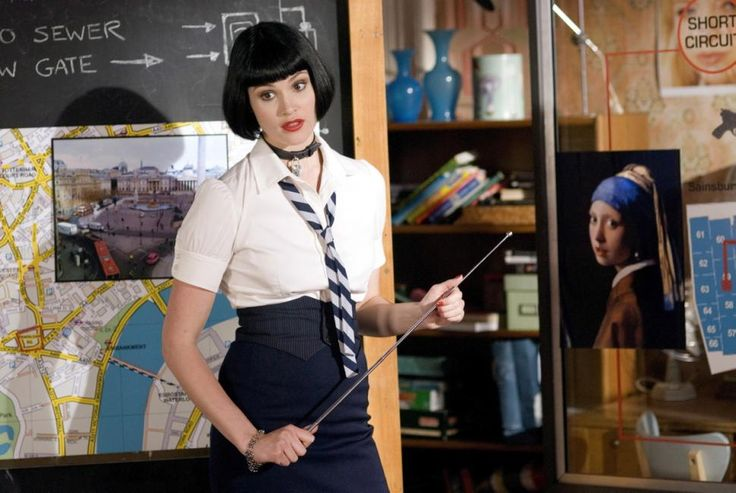 "Gemma Arterton (above) stars as Kelly, one of a group of friends from St. Trinian's, a school for misbehaving girls, who saves the school from bankruptcy by stealing the famous painting 'Girl With A Pearl Earring' in the 2007 British flick ""St. Trinian's."""
