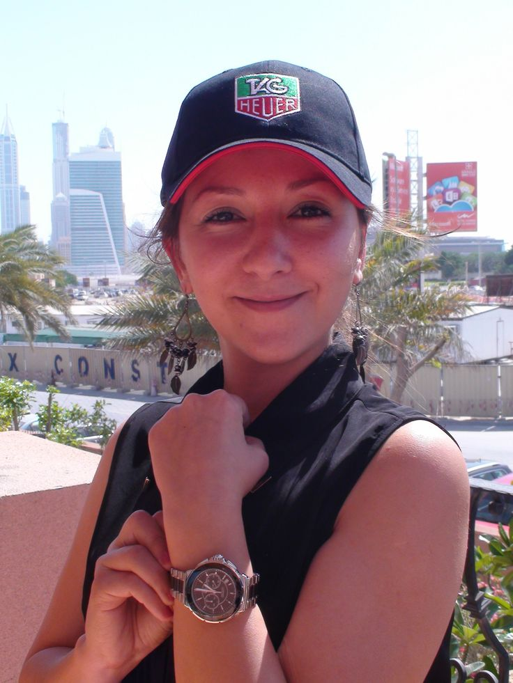 Seda Akin, Senior Project Manager with naseba, won the 2013 naseba TAG Heuer challenge. Here she is with her winning watch!