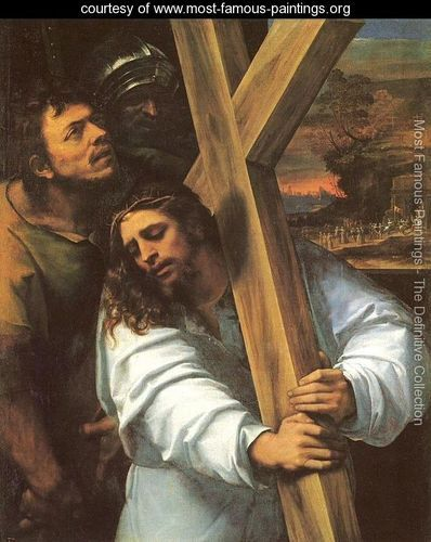 Jesus Carrying the Cross 1516 - Sebastiano Del Piombo (Luciani) - www.most-famous-paintings.org