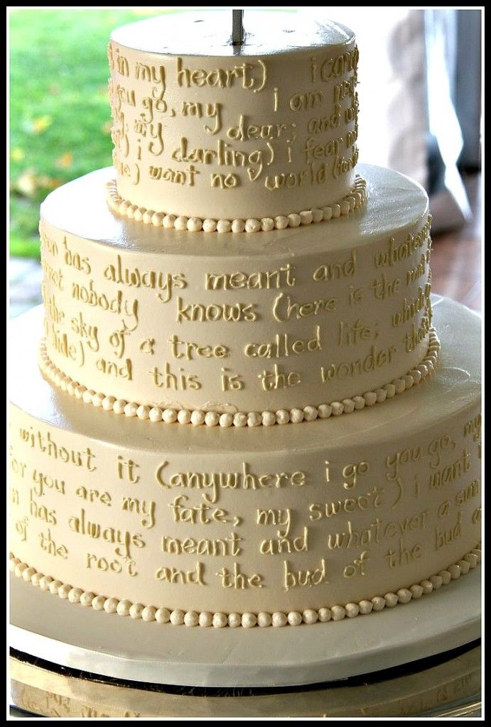 a wedding cake poem 81 best images about literary weddings on 10977