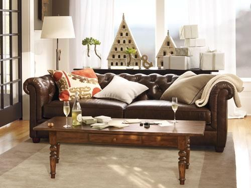 Pottery Barn Leather Sofa
