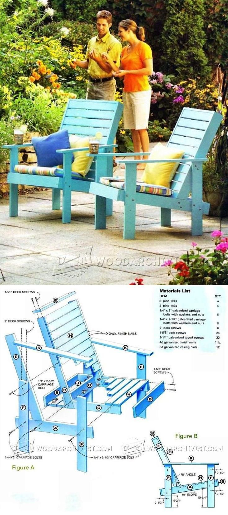 Outdoor Lounge Chair Plans - Outdoor Furniture Plans and Projects   WoodArchivist.com