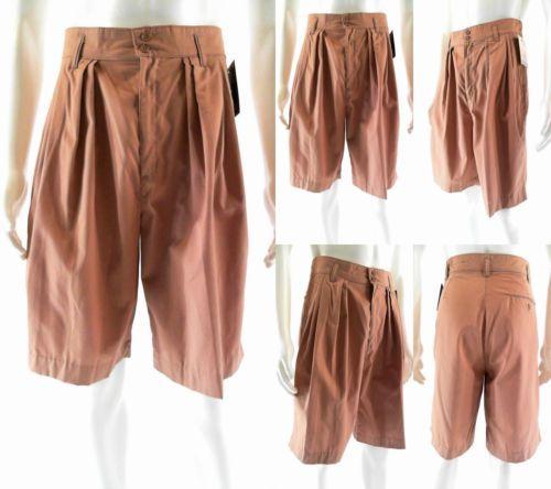 NWT Ozone Mens size 29 Bermuda Shorts Tan Solid Casual Pleat Designer Sale CHOP